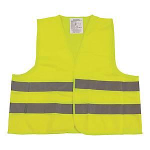 Kamizelka ostrzegawcza VERA, żółta, rozmiar uniwersalny, w etui