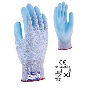 Par de guantes anticorte 3L Metal Plus PU - talla 8