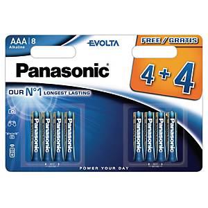 Pile alcaline Panasonic Evolta LR6/AAA, les 8 piles