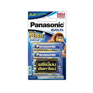 PANASONIC EVOLTA LR6EG-4BN ALKALINE BATTERIES AA PACK OF 4