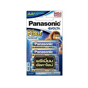 PANASONIC EVOLTA ถ่านอัลคาไลน์ LR6EG/4BN AA 1.5 โวลต์ 4 ก้อน