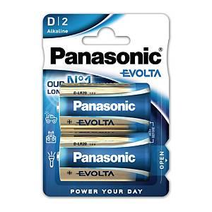 Panasonic Evolta D alkaline batterij, per 2 batterijen