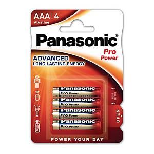 Pile alcaline Panasonic Power Pro LR3/AAA, les 4 piles