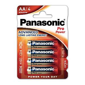 Panasonic AA pro power alkaline battery-pack of 4