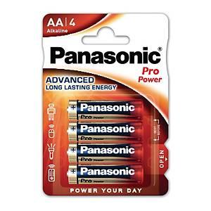 Pile alcaline Panasonic Power Pro LR6/AA, les 4 piles