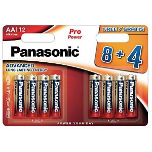 Panasonic AA pro power alkaline battery -pack of 12