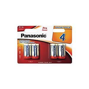 Pile alcaline Panasonic Power Pro LR14/C, les 4 piles