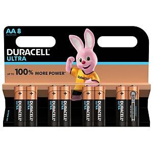 Duracell Ultra Power LR06/AA alkaline batterij, per 8 batterijen