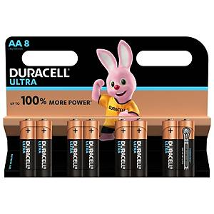 Duracell Ultra Power Type AA Alkaline Batteries, pack of 8