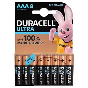 Duracell Ultra Power LR03/AAA alkaline batterij, per 8 batterijen
