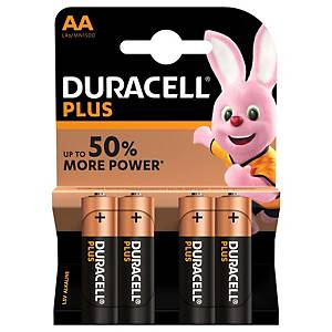 Pile alcaline Duracell Plus Power LR06/AA, les 4 piles