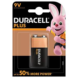 Duracell Plus Power Type 9V Alkaline Batteries, pack of 1
