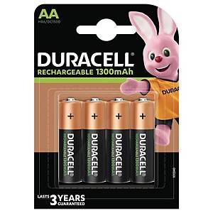 Duracell Recharge Plus AA herlaadbare batterij, per 4 batterijen