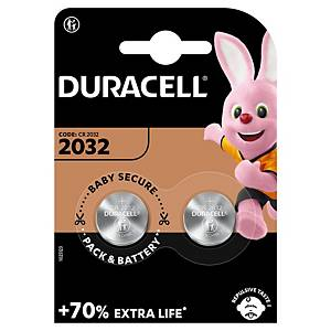 Pile bouton lithium Duracell Specialty 2032, les 2 piles