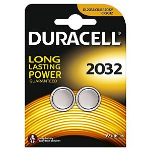 Duracell Specialty Type 2032 Lithium Coin Battery, pack of 2