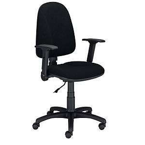 Krzesło LYRECO Premium Ergo ze stałymi podłokietnikami, czarne
