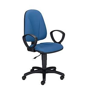 Krzesło LYRECO Premium Ergo  ze stałymi podłokietnikami, niebieskie