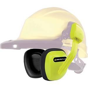 Deltaplus Suzuka 2 Ear Defender Helmet Mounted High Visibility Yellow