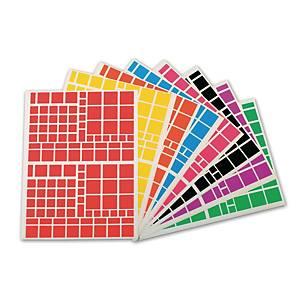 Apli gommettes carrés 10 feuilles 166x216 mm - le paquet de 1260 gommettes