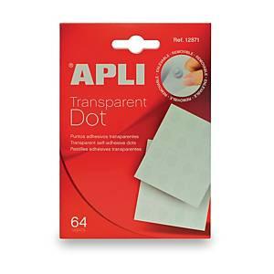 Apli pastilles adhésives transparentes - le paquet de 64