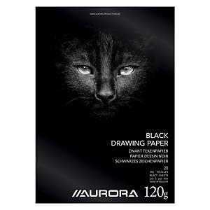 Papier A4 120 gr noir - le paquet de 20