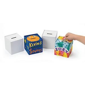 Colorations tirelire en papier mache - le paquet de 12