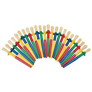 Coloration non-roll paint brushes - pack of 24