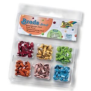 Splitpennen, rond, assorti kleuren, doos van 120 stuks