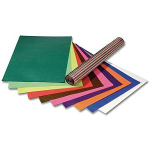 Folia papier transparent 70x100cm couleurs assorties - le paquet de 25