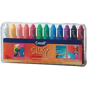 Creall Silky 3-in-1 kleurmateriaal, pak van 12 stuks