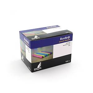 Calico chalk assorted colours - pack of 100