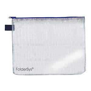 Foldersys sachet fermeture éclair A4 bleu