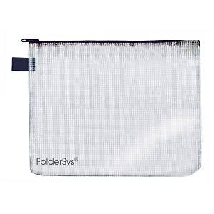 Foldersys sachet fermeture éclair A3 gris