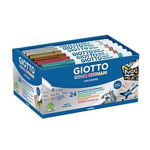 Giotto Decor metal markers, assorti kleuren, per 24 paint markers