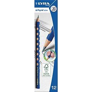 Lyra Groove Slim triangular pencil - pack of 12