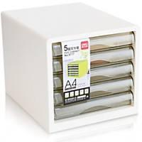 DELI WHITE 5 LAYER PAPER TRAY 255 X 270 X 340MM