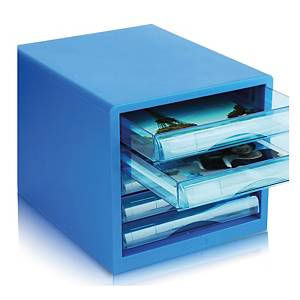 DELI BLUE 5 LAYER PAPER TRAY 255 X 270 X 340MM