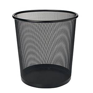 Mesh Metal Round Waste Bin Black 235 X 270mm