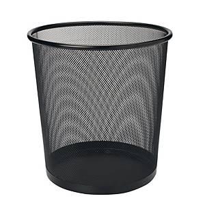 Mesh Metal Round Waste Bin Black 293 X 340mm