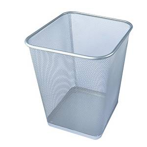 Mesh Metal Square Waste Bin Silver  260 X 300mm