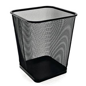 Mesh Metal Square Waste Bin Black 260 X 300mm