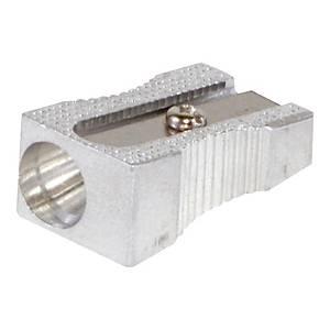 Temperówka pojedyncza DONAU 7860001PL-99, srebrna, aluminiowa