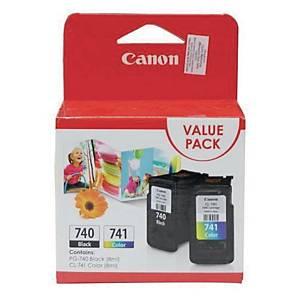 Canon PG-740 + CL-741 VP Original Inkjet Cartridge - Black, Tri Color Value Pack