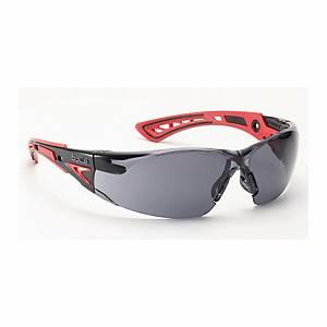 Schutzbrille Bollé RUSH+ RUSHPPSF, Filtertyp 5, schwarz/rotScheibe grau