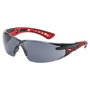 Safety glasses Bollé RUSH+ RUSHPPSF, filter type 5, black/red, grey lens