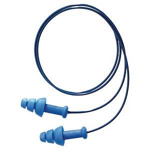 Bouchons d'oreilles cordés détectables Honeywell Smartfit - 30 dB - 50 paires