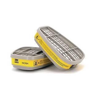 3M 6003 防有機/酸性氣體濾罐 - 2件裝