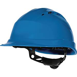 Deltaplus Quartz IV Up safety helmet in PP with 8 fixing points blue