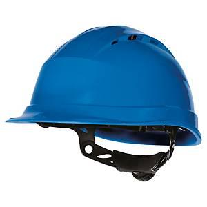 Casque de sécurité Deltaplus Quartz UP IV - ventilé - serrage glissière - bleu