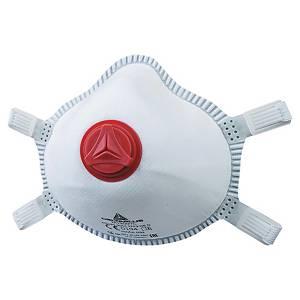 Masque coqué jetable Deltaplus M1300VC FFP3 - avec soupape - par 5